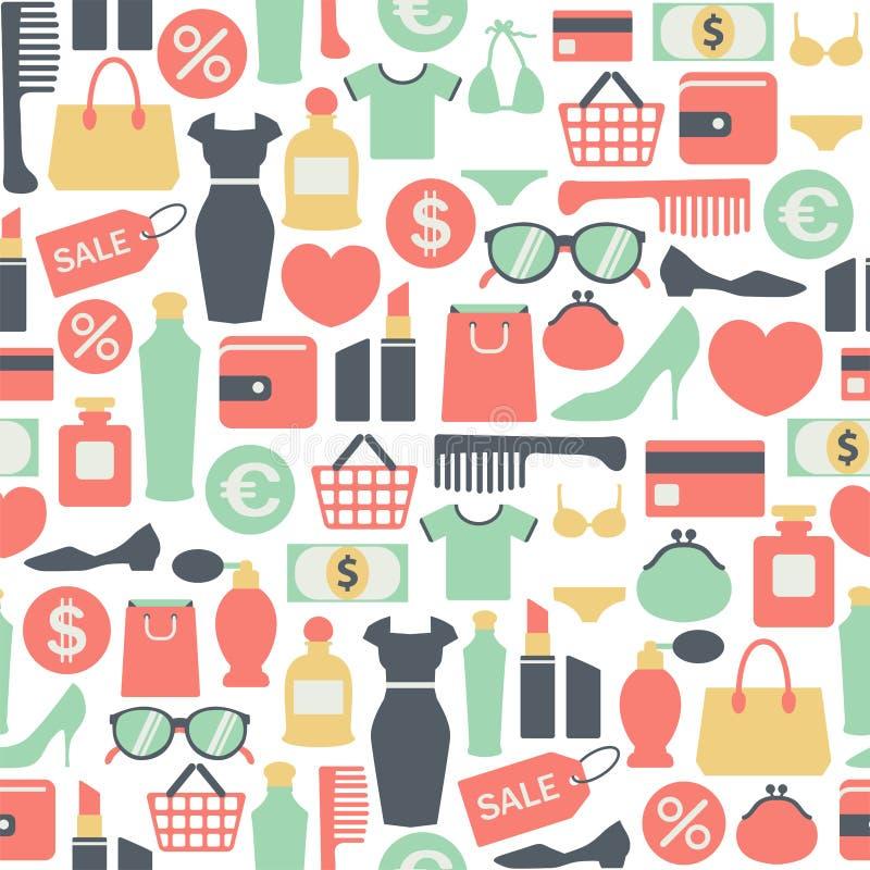 Het winkelen patroon royalty-vrije illustratie