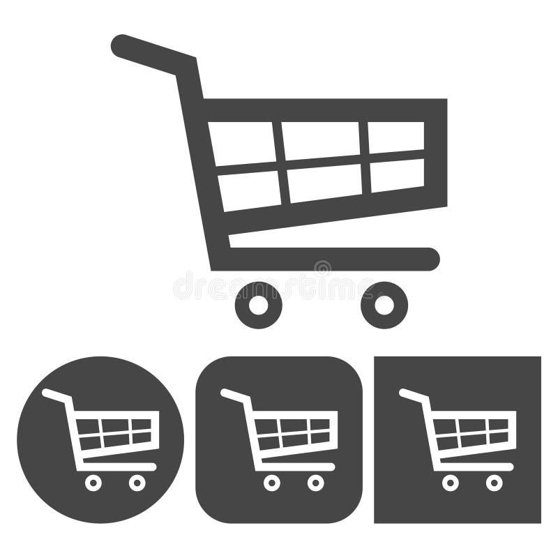 Het winkelen Pictogram - vector geplaatste pictogrammen royalty-vrije illustratie