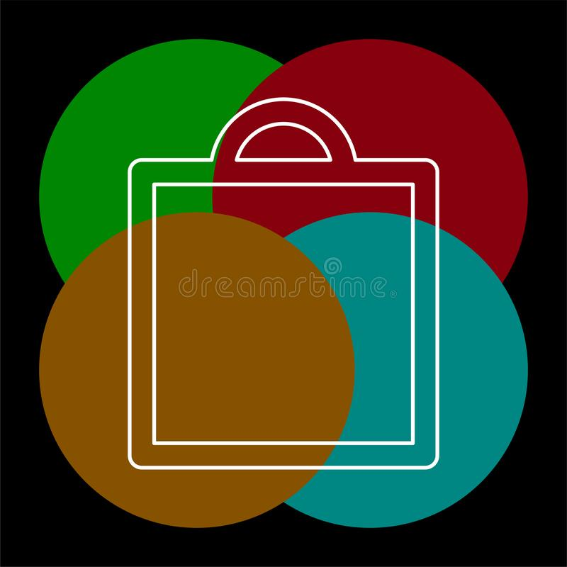 Het winkelen pictogram, vectormanierzak vector illustratie