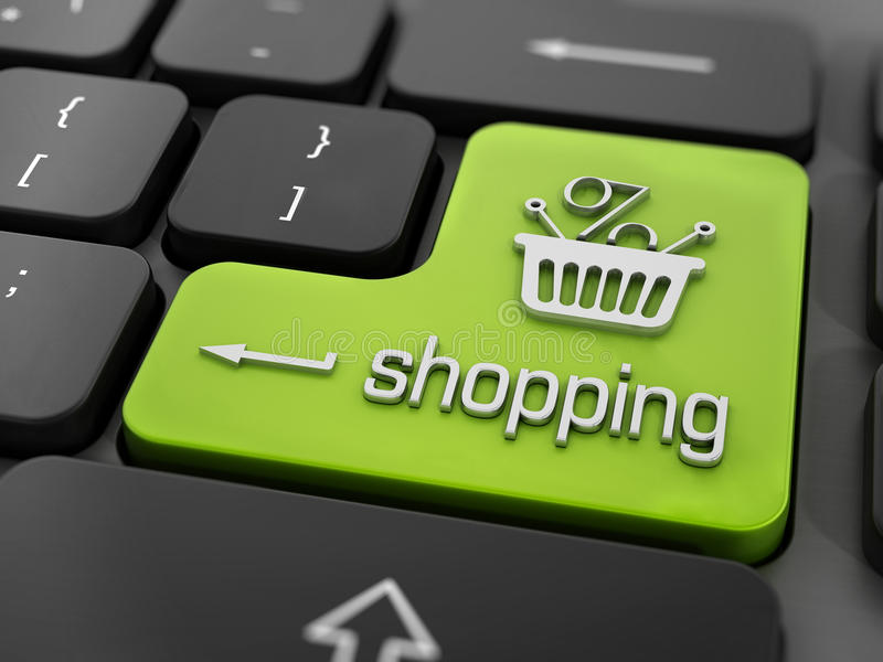 Het winkelen sleutel vector illustratie