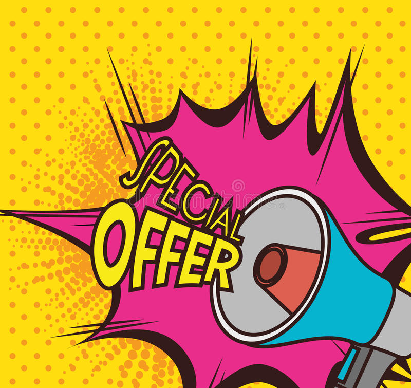 Het winkelen speciale aanbiedingen royalty-vrije illustratie