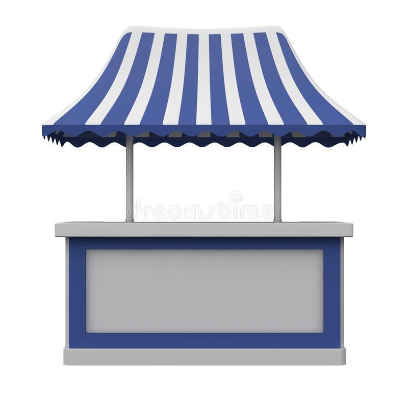 Het winkelen in tegenovergestelde richting met luifel vector illustratie
