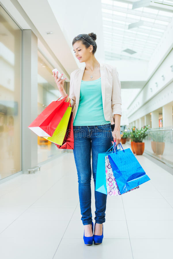 Het winkelen tijd stock foto's