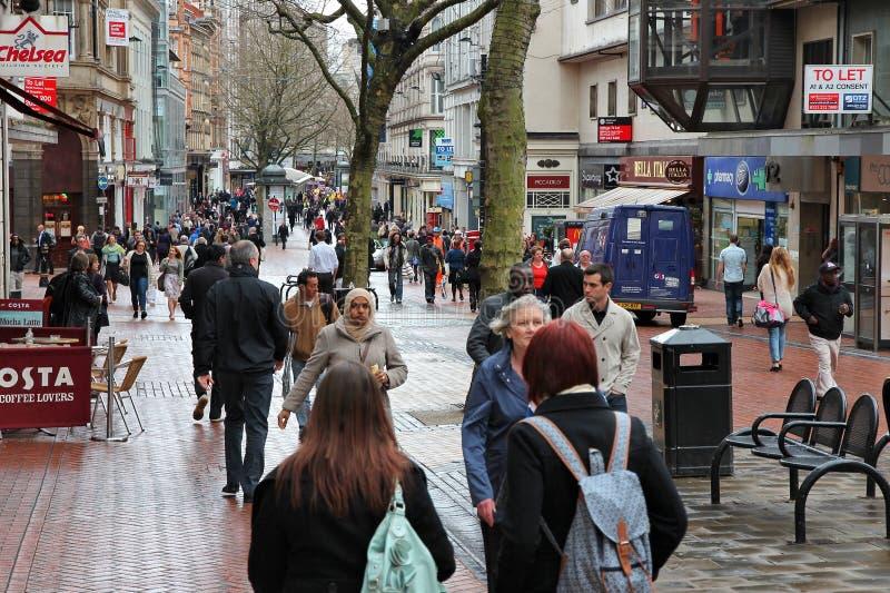 Het winkelen van Birmingham royalty-vrije stock foto
