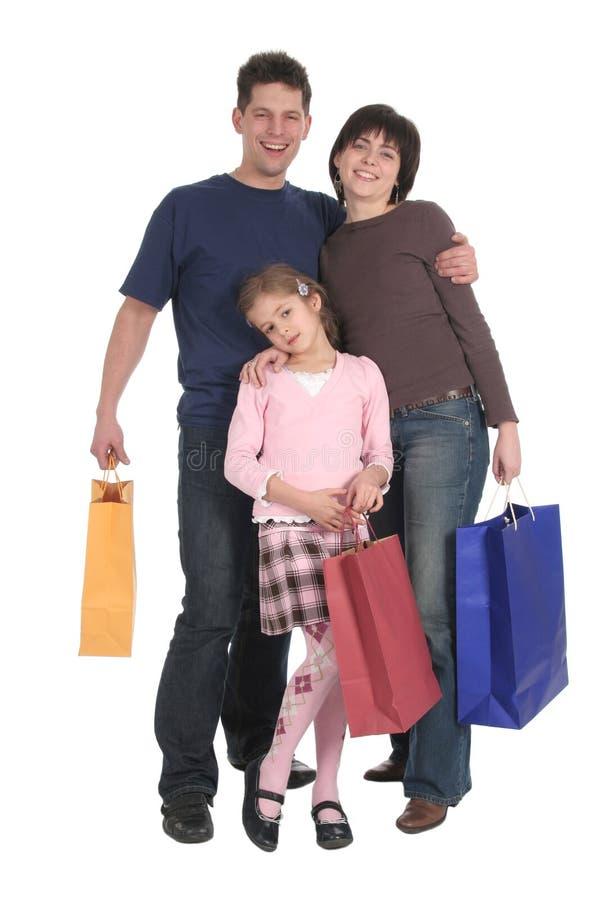 Het Winkelen van de familie royalty-vrije stock afbeeldingen