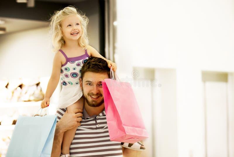 Het winkelen van de familie royalty-vrije stock foto