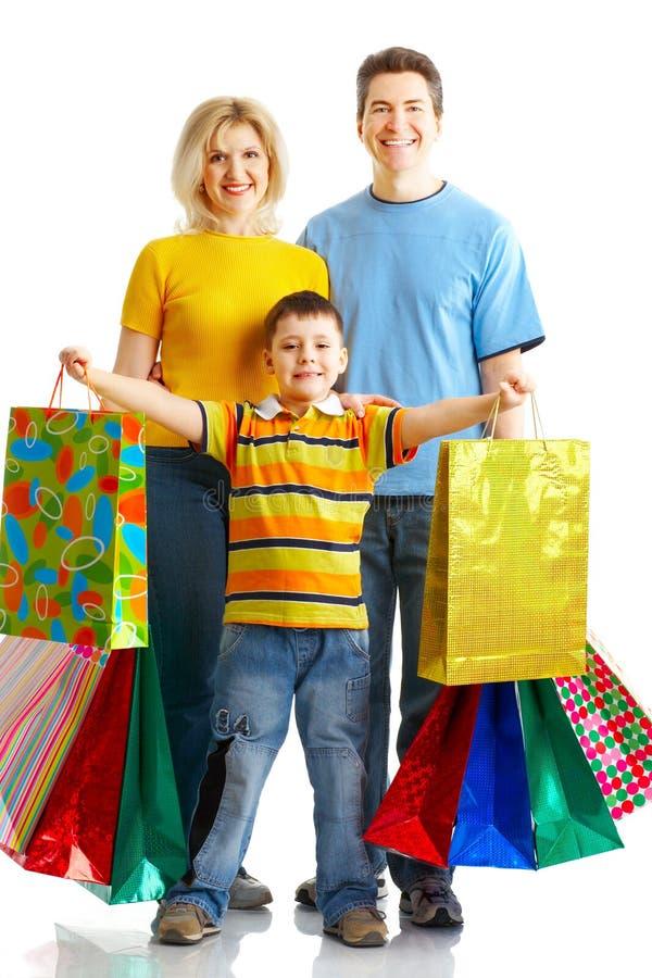 Het winkelen van de familie stock foto