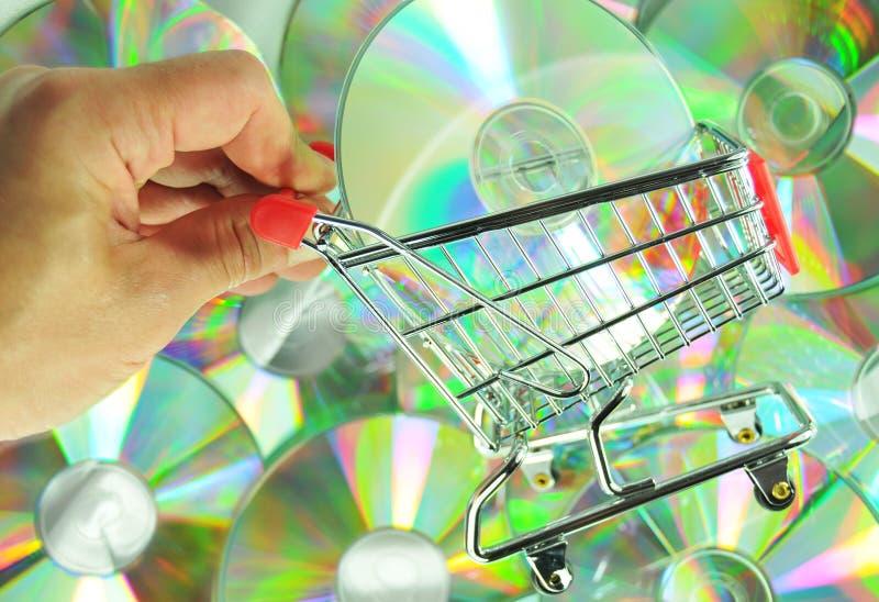Het winkelen van de muziek stock foto's
