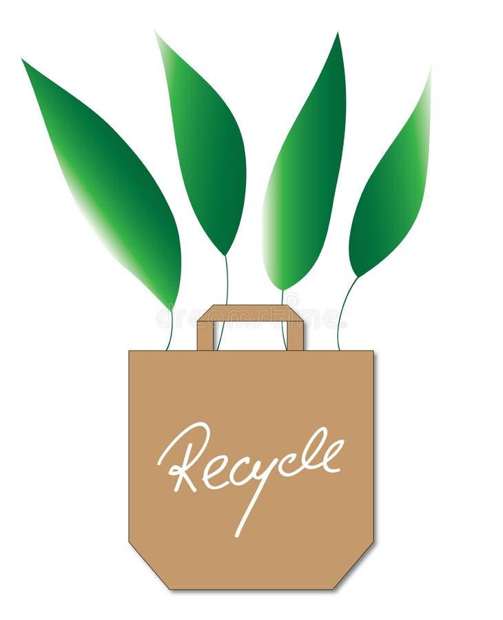 Het winkelen van Eco zak stock illustratie