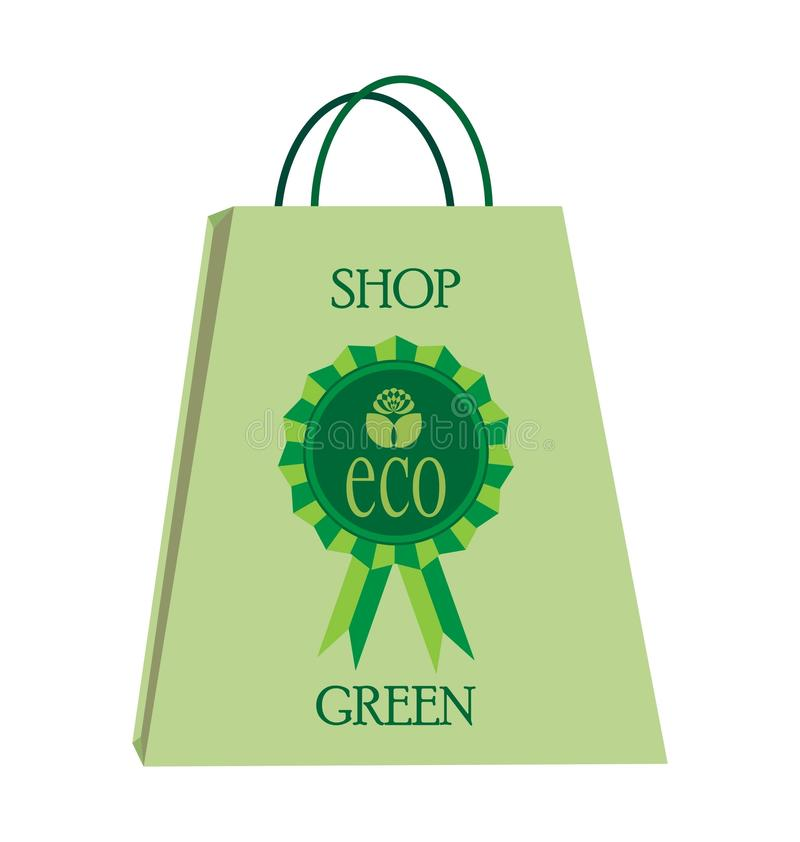 Het Winkelen van Eco Zak vector illustratie