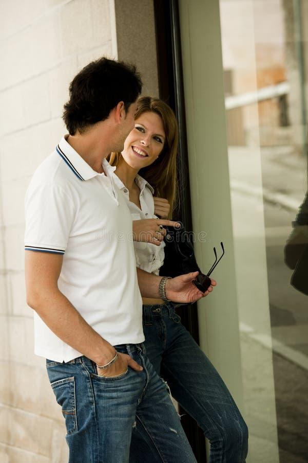 Het winkelen van het venster royalty-vrije stock foto's