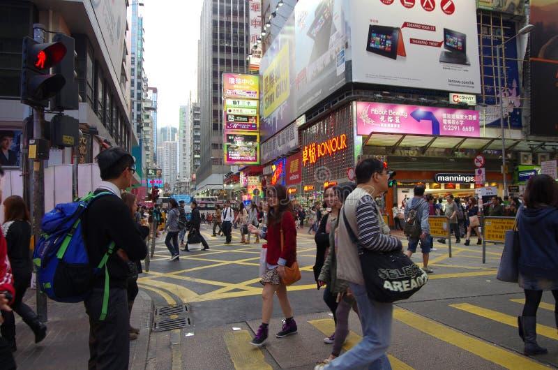 Het winkelen van Hongkong straat stock fotografie