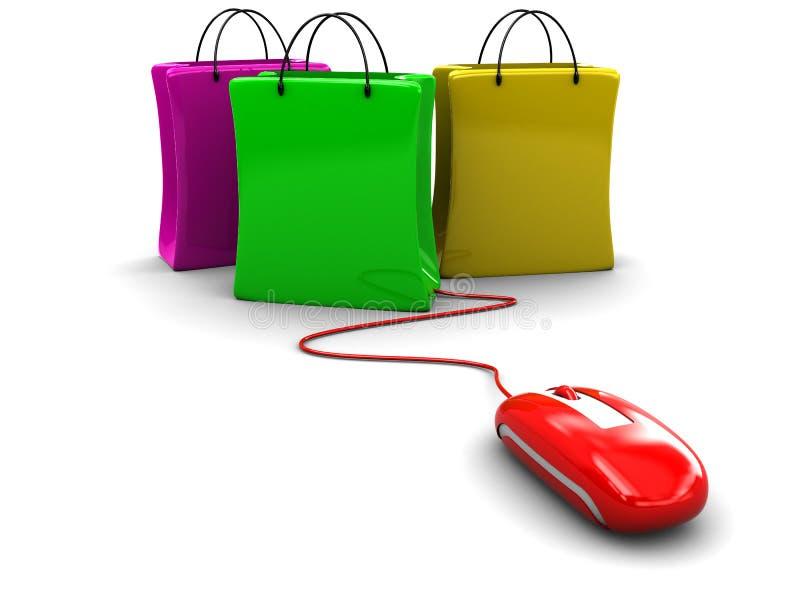 Het winkelen van Internet stock illustratie