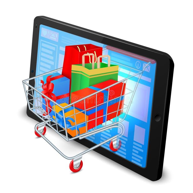 Het winkelen van Internet concept stock illustratie