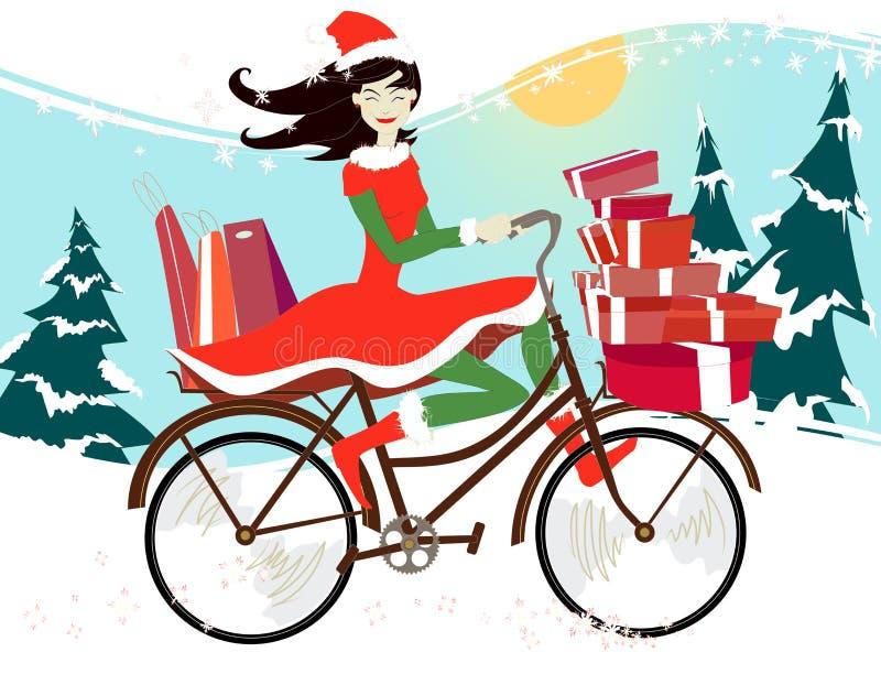 Het winkelen van Kerstmis stock foto's