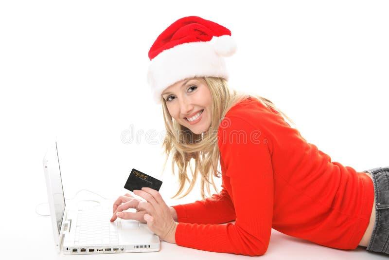 Het Winkelen van Kerstmis club stock afbeeldingen