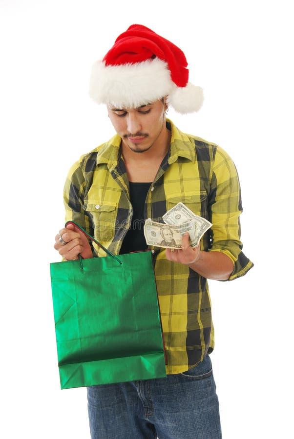 Het winkelen van Kerstmis contant geld royalty-vrije stock foto's