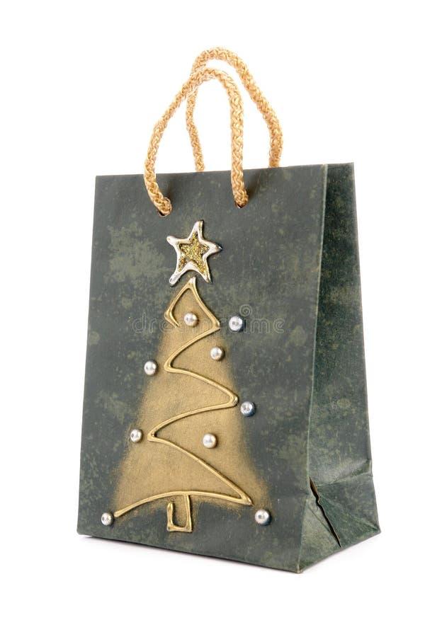 Het winkelen van Kerstmis zak royalty-vrije stock foto
