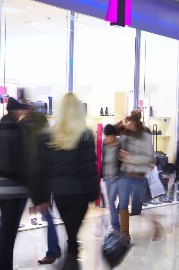 Het winkelen van mensen stock afbeelding