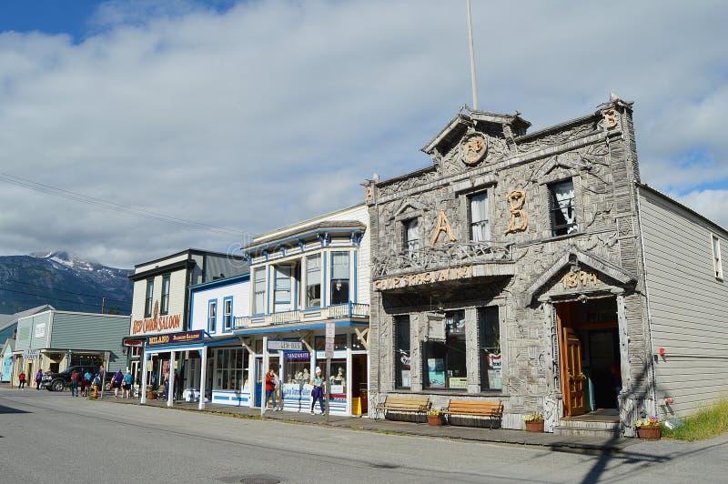 Het Winkelen van Skagwayalaska District royalty-vrije stock afbeeldingen
