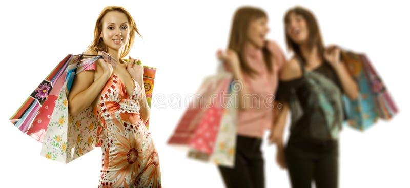 Het winkelen van vrouwen stock foto
