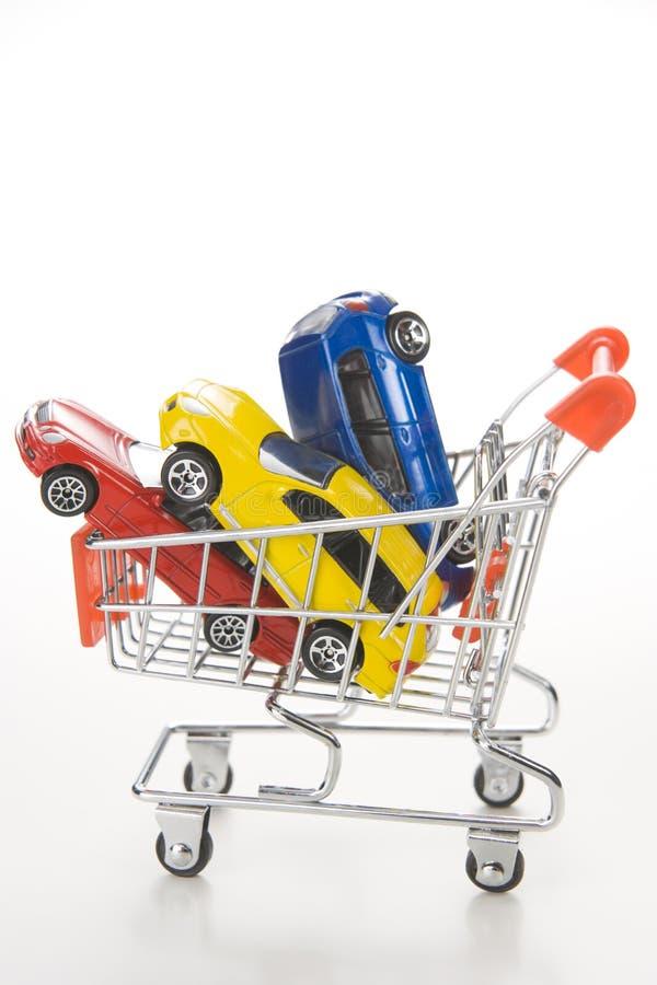 Het winkelen voor Auto's stock afbeeldingen