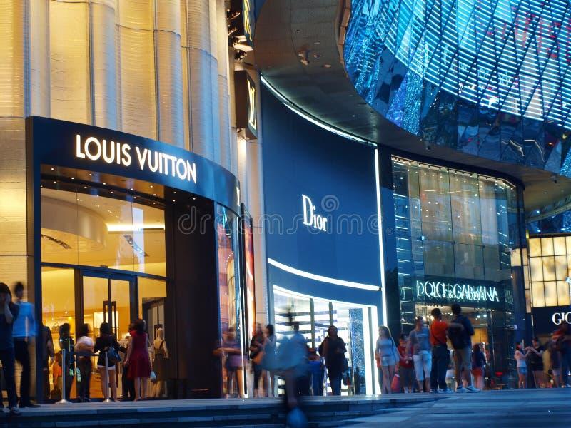 Het winkelen voor de Merken van de Luxe royalty-vrije stock foto's