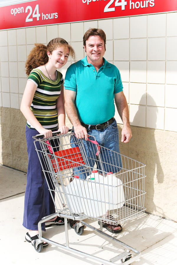 Het winkelen voor Water royalty-vrije stock foto's