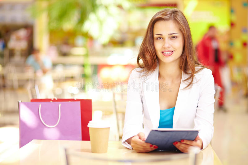 Het winkelen vrije tijd stock foto