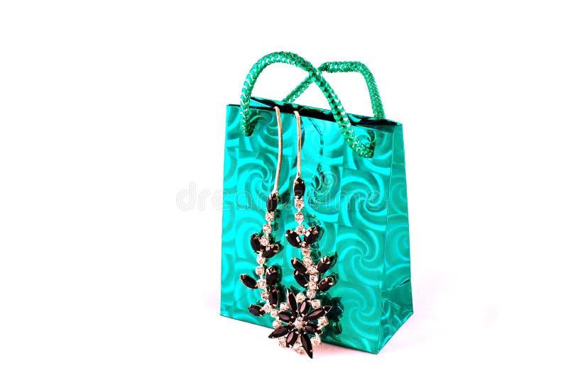 Het winkelen zak en juwelen royalty-vrije stock foto