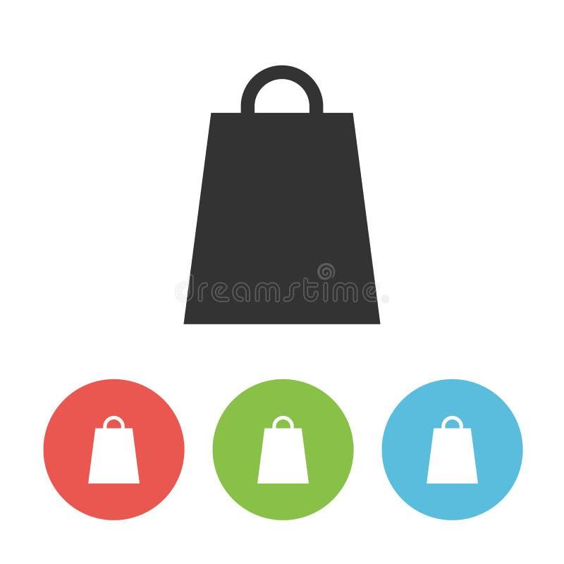 Het winkelen zak enig vlak pictogram royalty-vrije illustratie