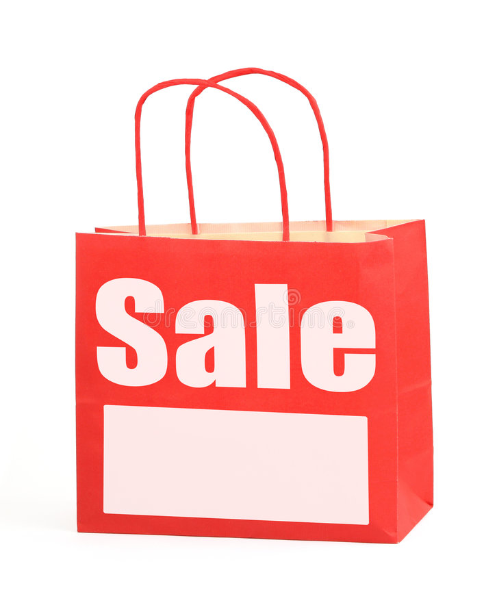 Het winkelen zak met exemplaarruimte royalty-vrije stock foto's