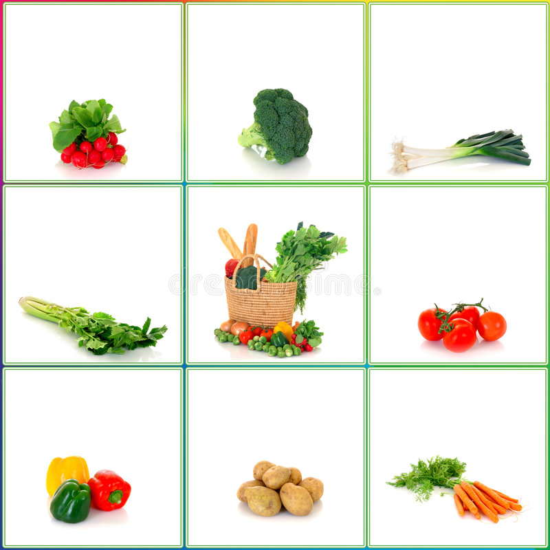 Het winkelen zak met groenten royalty-vrije stock foto's