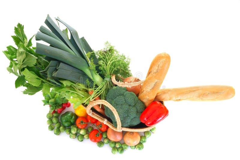 Het winkelen zak met groenten royalty-vrije stock foto