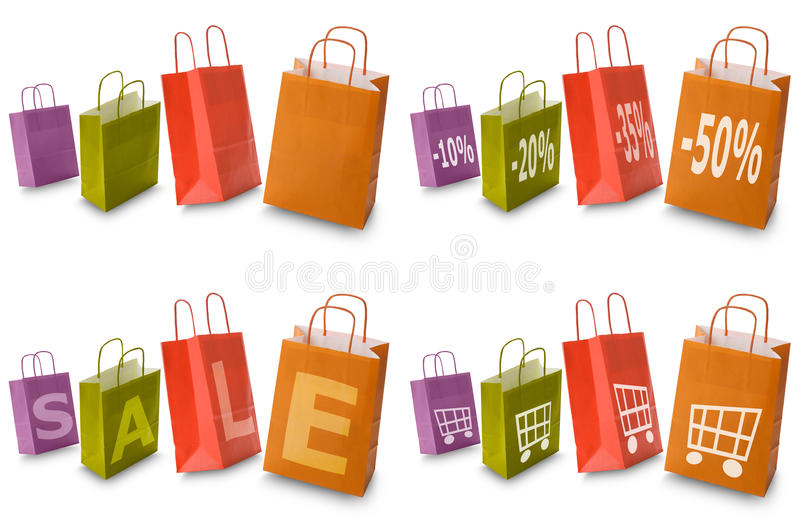 Het winkelen zakken stock illustratie
