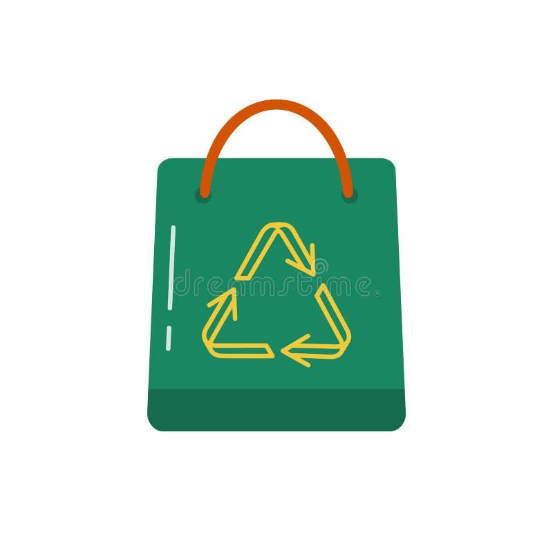 Het winkelen zakpictogram in vlakke stijl vector illustratie