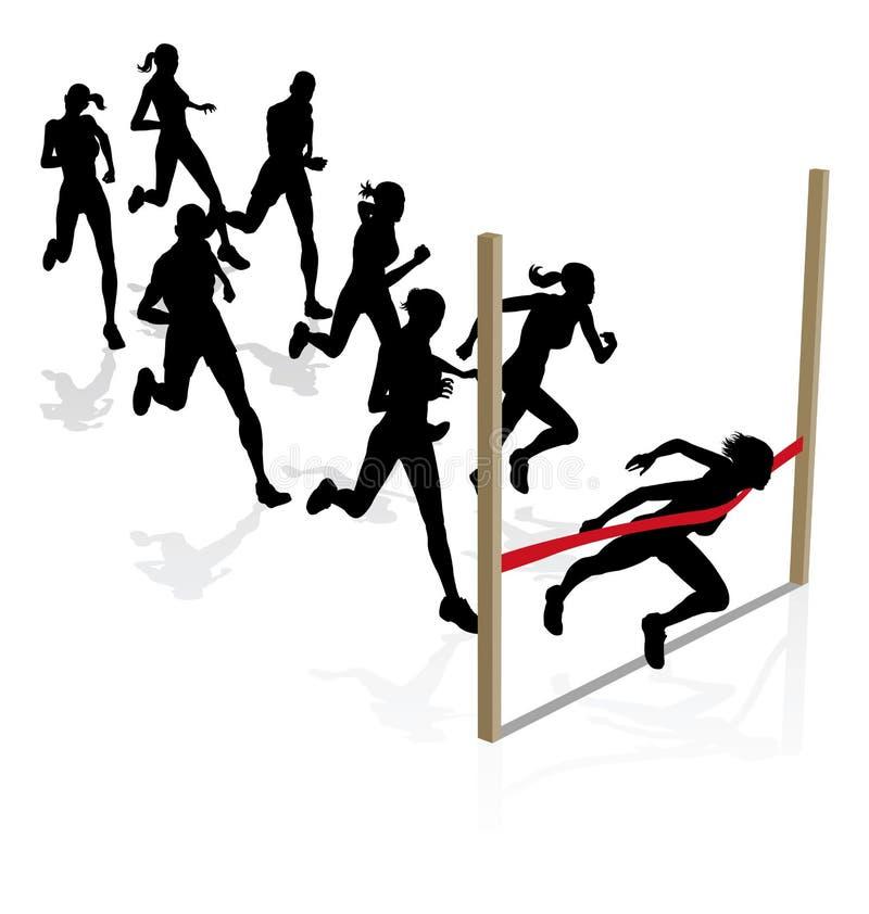 Het winnen van de race vector illustratie