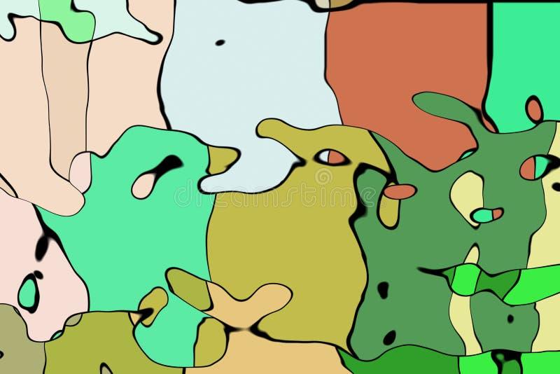 Download Het Wiskundige Patroon Van De Ornamentgrafiek Stock Illustratie - Illustratie bestaande uit modern, ornament: 107703585