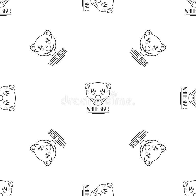 Het wit draagt patroon naadloze vector vector illustratie