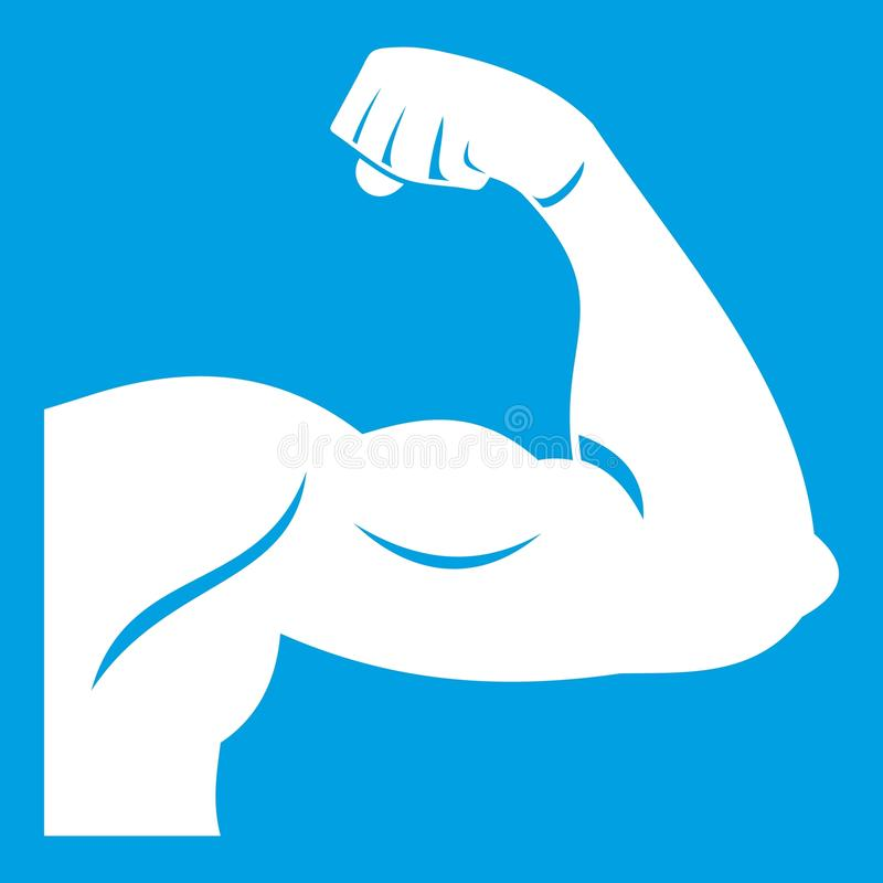 Het wit van het bicepsenpictogram stock illustratie