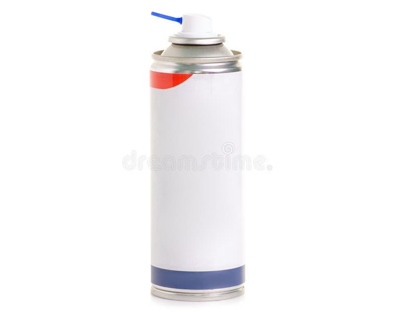 Het wit van het cilinderaërosol stock foto's