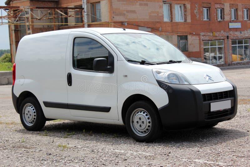 Het wit van Citroën Nemo 2008 stock afbeelding