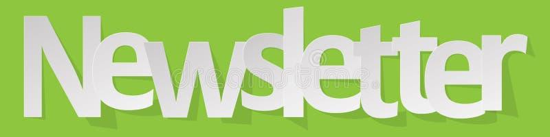 Het wit van de bulletinbanner op een groene achtergrond vector illustratie