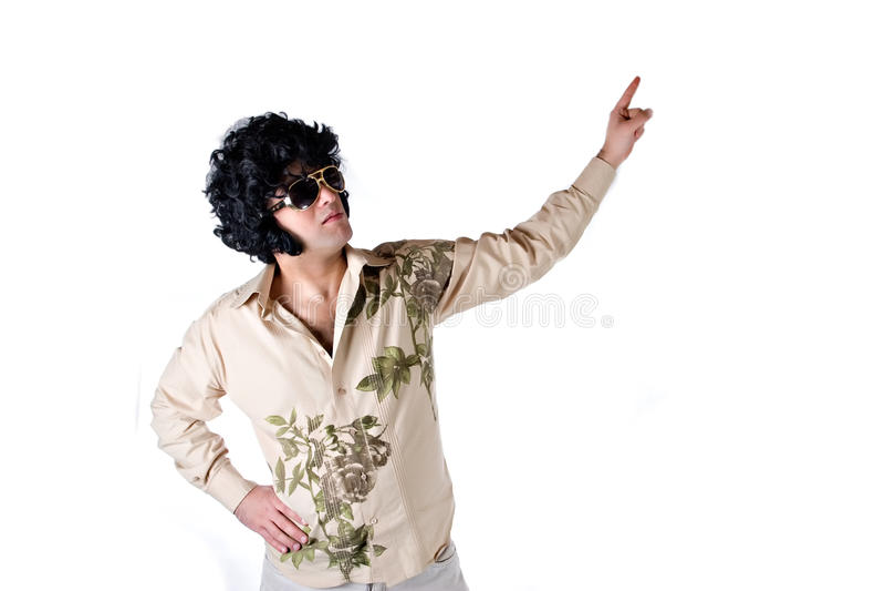 Het Wit van de disco royalty-vrije stock afbeelding