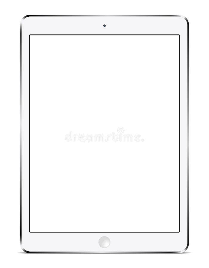 Het wit van de IPadlucht stock illustratie