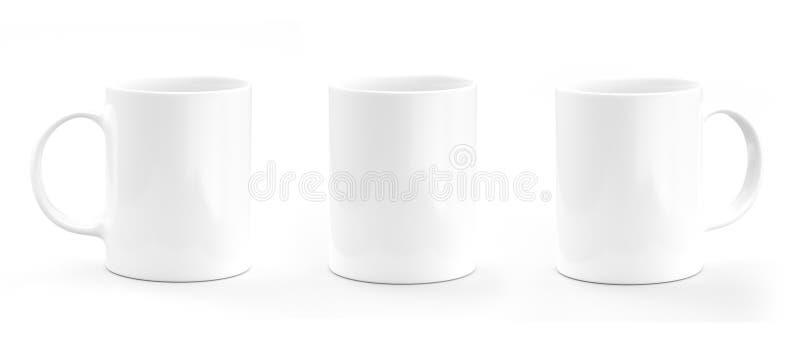 Het Wit van de koffiemok Mok leeg model stock illustratie