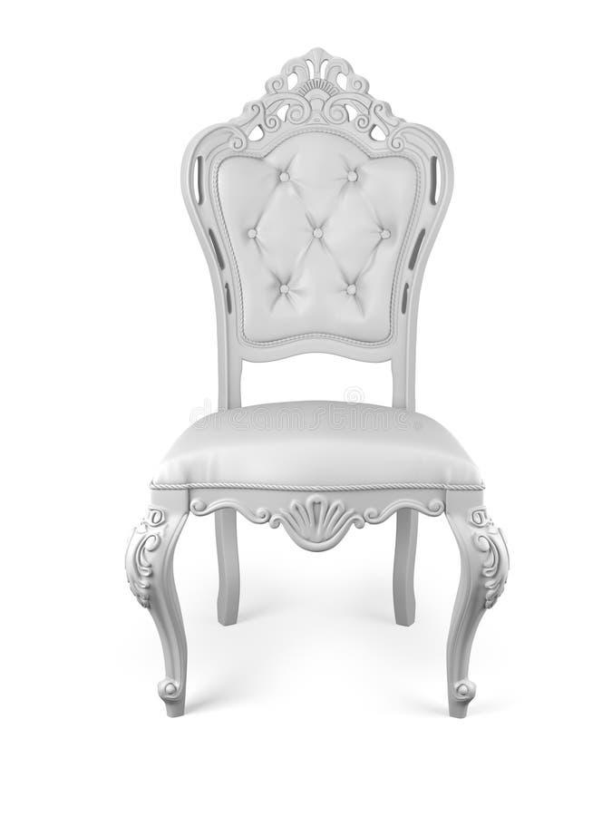 Het wit van de stoel stock illustratie
