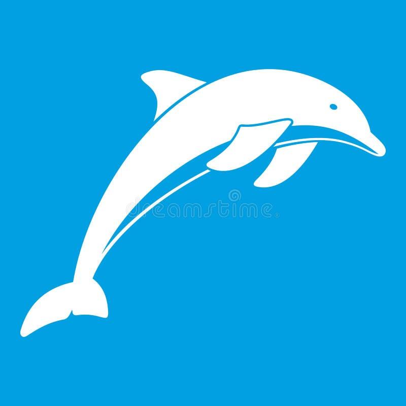 Het wit van het dolfijnpictogram vector illustratie