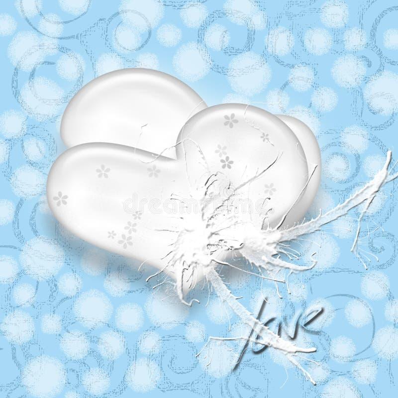 Het wit van het hart stock fotografie