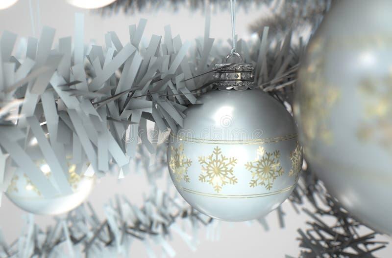 Het Wit van het Kerstmisdecor vector illustratie